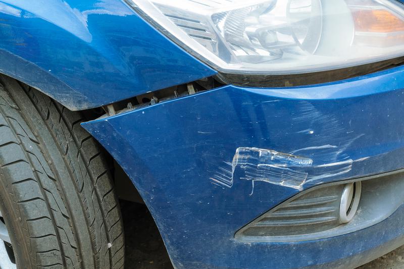 broken bumper.